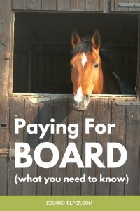 Paying for Board for a horse